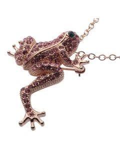 JCB Necklace - La Grenouille Rose (Frog)